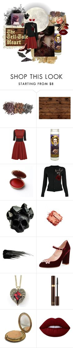 Halloween - Edgar Allan Poe by katlyn-lowe on Polyvore featuring Lattori, Kate Spade, Macabre Gadgets, KDIA, Lime Crime, Tom Ford, Urban Decay and Coty