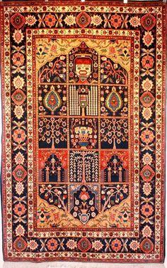 Unique Persian Bakhtiari Tribal Rug
