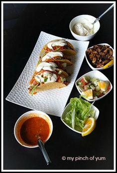 Chicken Tacos Mexican Chicken Tacos, Pakora Recipes, Indian Food Recipes, Ethnic Recipes, Stuffed Shells, Prawn, Seafood, Blog, Sea Food