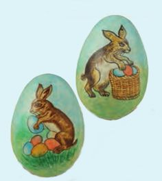 Paper Mache Easter Egg Ornaments