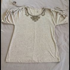 Women's Top by a.n.a Women's Top  Embroidered beads around the Neck.                                                   ✅Reasonable offers welcome! ✅Bundle Discounts! No Trades/PayPal. No Lowball offers. a.n.a Tops