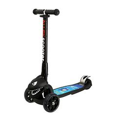 ALLEK BRAND: 1. For those little riders who just learning the basics of balance and coordination, the ALLEK scooter is their best choice. Its three-wheels, extra-wide and slip resistant pedal gives new riders stability to build their confidence and improve their riding skills. 2. ALLEK scooter... more details available at https://perfect-gifts.bestselleroutlets.com/gifts-for-teens/skates-skateboards-scooters/product-review-for-scooter-allek-3-wheel-adjustable-height-pu-flashi
