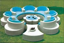 Luxury rattan large garden furniture 7 seater sofas and wicker outdoor furniture