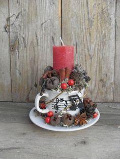 Karácsonyi ének - hangjegyes ünnepi asztaldísz, Otthon, lakberendezés, Dekoráció, Karácsonyi, adventi apróságok, Gyertya, mécses, gyertyatartó, Meska: