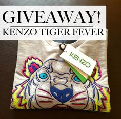GIVEAWAY KENZO TIGER SWEATER only on www.tequilaontherocks.com