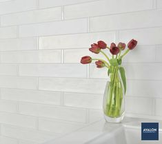 Origin 2 1/2 x 10 1/2 Subway Tile shown in the Birch White color | Available at Avalon Flooring | Starting at $6.99/square foot | #subwaytile #tiledesign #homedesign