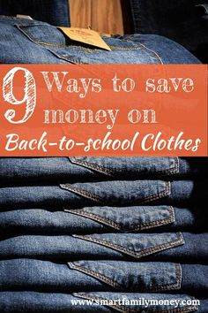 9 Ways to save money on back-to-school clothes