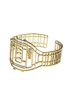 johanna n umeå bracelet in brass - Slow Fashion from Just Fashion Umea, Digital Clocks, Slow Fashion, Accessories Shop, Handmade Bracelets, Sustainable Fashion, Designer Shoes, Bracelet Watch, Brass