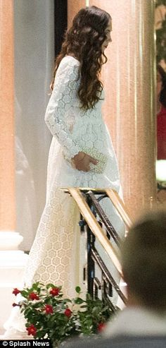 MYROYALS  FASHİON: Newly wed Tatiana Casiraghi in the dress she chose to wear to post-wedding celebrations at the Hotel de Paris, Monaco, August 31, 2013