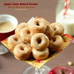 Apple Cider Baked Donuts with Maple Glaze...Welcome Autumn! |