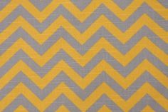 Premier Prints Zig Zag Cotton Drapery Fabric in Ash/Corn Yellow $7.95 per yard  CODE: 114 51.1