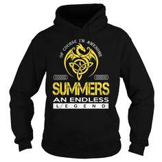 SUMMERS An Endless Legend (Dragon) - Last Name, Surname T-Shirt
