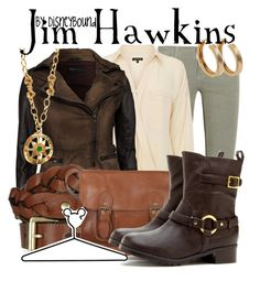 """Jim Hawkins"" by leslieakay ❤ liked on Polyvore featuring Current/Elliott, Warehouse, Rock'N Blue, Mulberry, Fat Face, Sole Society, Mercedes Robirosa, BaubleBar, Disney and disney"