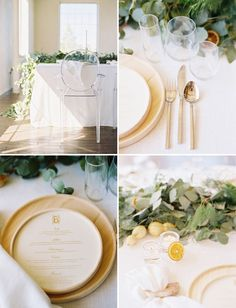 White organic tablescape on GWS.   Florals:  The Southern Table, Floral + Event Design // Photos: Ben Q. Photography // Styling/Design: Lindsey Zamora // Paper: Southern Fried Paper // Venue: 333 1st Avenue, Dallas, Tx