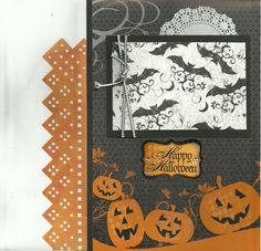 Scrapbooking Kit, 2 page layout, Happy Halloween Bats by CropALatteToGo on Etsy