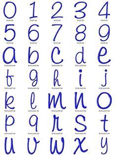 Kayleigh Machine Embroidery Font Alphabet