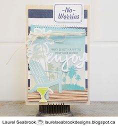 I knew immediately when I saw the TGIF challenge, which papers I wanted to use. this is making me really excited for our cruise. Close To My Heart, I Saw, Tgif, Cardmaking, No Worries, Challenges, Paper Crafts, Seasons, Happy