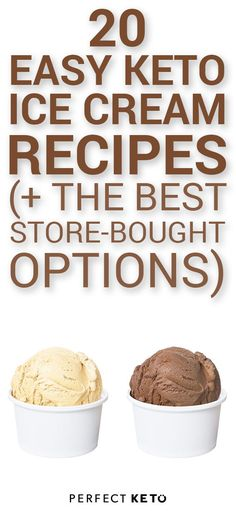 These keto ice cream recipes will satisfy your cravings without kicking you out of ketosis. Check out the guide for no-churn recipes, ice cream machine creations, and our top 3 picks for store-bought low-carb ice creams now. Helado Keto, Keto Eis, Keto Foods, Keto Snacks, Low Carb Desserts, Low Carb Recipes, Dessert Recipes, Healthy Desserts, Dinner Recipes