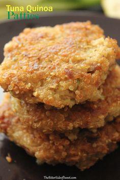 Tuna Quinoa Patties tried it with salmon super yummy on a sandwich bun!