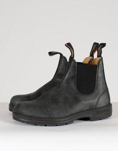 Blundstone Women's 587 Round Toe Boots Rustic Black - Still Life - 4