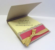 Stamping to Share: 6/24 Stampin' Up! Lovely Letters Personalizes Matchbook Post It Note Holder