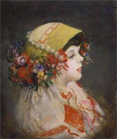 Csók István - Sokác kislány Painting, Art, Kunst, Art Background, Painting Art, Paintings, Performing Arts, Painted Canvas, Drawings