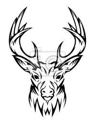 Tribal Deer Head Tattoo Design - A head of a tribal deer and symbolizes power and strength. The tattoo design looks nice. Deer Head Tattoo, Head Tattoos, Deer Hunting Tattoos, Skull Tattoos, Deer Skull Drawing, Drawing Fur, Skull Drawings, Animal Drawings, Symbols That Represent Strength
