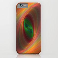 Orange ellipse galaxy iPhone 6 Slim Case