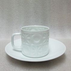 Mid Century Fine Bone Egg Shell China Demitasse Cup Saucer Coffee Can Espresso | eBay