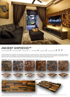 Ancient Shipwood Panel is a kind of special and natural decoration material. Its great physical property of waterproof, and mothproof makes it become an excellent natural environmental protected decoration material.