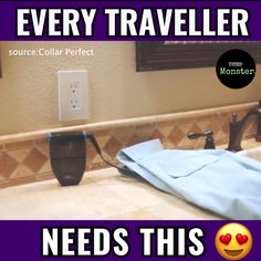 🌏ATT: ALL Travellers 🌏 Iron out any wrinkle with this compact tool. 😍Tag A Friend Who would love this 😍 Travel Gadgets, Gadgets And Gizmos, Tech Gadgets, Useful Life Hacks, Simple Life Hacks, Cool Inventions, Travel Videos, Travel Tips, Cool Tech