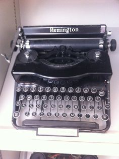 From the American Press Institute typewriter collection, a Remington #1 portable from the 1930s.
