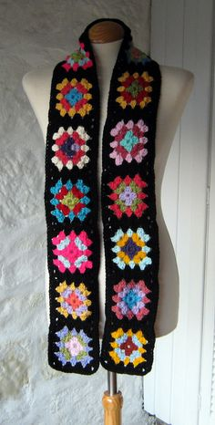 The Crochet Granny Square Scarf Bang on Trend 2011 by Thesunroomuk, £28.00
