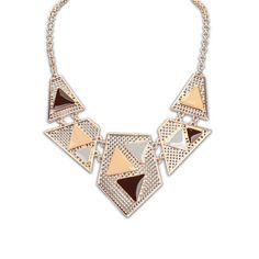 European And American Fashion Ruili Hollow Geometric Necklace