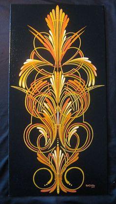 Art,lowrider,scroll,pinstriping,hot,rod,tattoo,shop,Pinstriped,flash,Deco,Custom