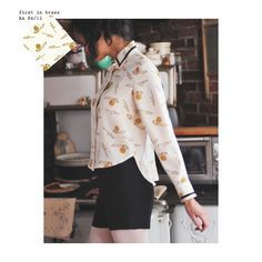 I adore this picture of the trombone blouse. Lovely.