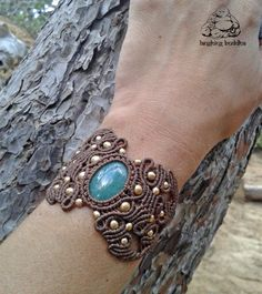 Handmade Aventurine bracelet macrame bracelet by byLaughingBuddha