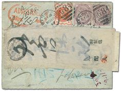 Japan, 1899 (Nov. 30) cover from England to Yokohama, forwarded to Tokyo after a search for the addressee,