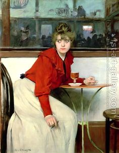 Ramon Casas:Chica in a Bar, 1892