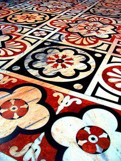 Floor of the Duomo, Milan, Italy