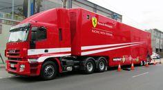 Iveco truck racing with ferrari Big Rig Trucks, Mini Trucks, Tow Truck, Cool Trucks, Pickup Trucks, Ferrari Daytona, Ferrari Ff, Le Mans, Ferrari California