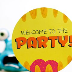 Monster Party Sign