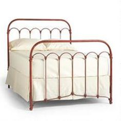 BETHANY IRON BED Inspired By An Early Iron Bedstead Weve Reproduced Its Knobs And Arches In Cast Aluminum Replicating The Timeworn Patina