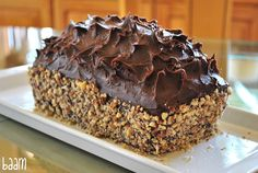 Fudge Loaf Cake with Pecans