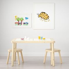 IKEA - FLISAT, Children's table, This children's desk becomes both a practical place for arts and crafts, as well as a useful storage solution, if completed with TROFAST storage boxes in different sizes and colors. Use with TROFAST storage box. Lego Table, Kid Table, Play Table, Solid Pine, Solid Wood, Playroom Table, Playroom Ideas, Ikea Playroom, Kids Stool