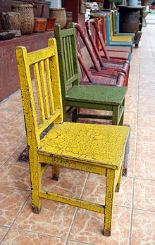 painted mismatched chairs
