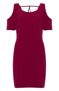 Primark - Vestido vermelho justo ao corpo com abertura nos ombros