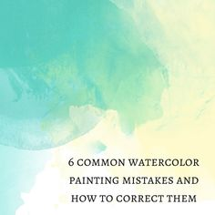6 Common watercolor painting mistakes and how to correct them By Nicole Tinkham Do you have an interest in learning how to paint with watercolor? A lot of our customers either currently paint with watercolor, or have in the past, but what about those just Watercolor Tips, Watercolour Tutorials, Watercolor Artists, Watercolor Techniques, Watercolour Painting, Art Techniques, Painting & Drawing, Watercolours, Painting Flowers