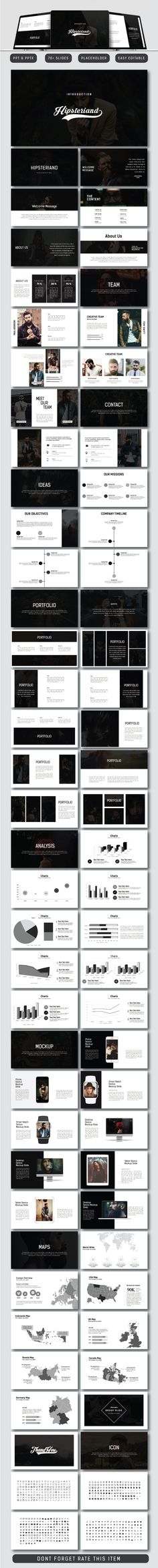 Hipsteriand Business Powerpoint - PowerPoint Templates Presentation Templates