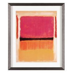 Rothko - Black Orange Yellow from Z Gallerie (for living room)? Love this!